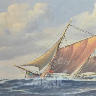 Gemälde  ''Segelschiff auf hoher See''