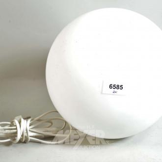 2 Kugellampen, Milchglas weiß
