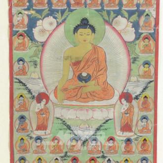 Textilbild ''Buddha in Harmonie''