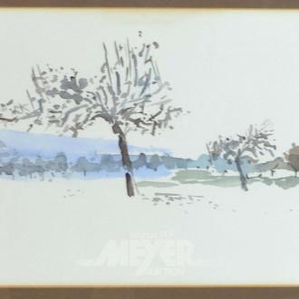 Tuschzeichnung ''Winterlandschaft''