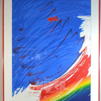 gr. Farbkomposition ''Regenbogen mit