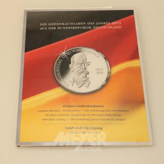 10 Euro-Gedenkmünzen, 10 + 20 EUR