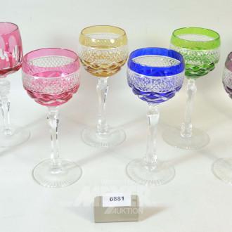 8 farbige Wein-Römergläser