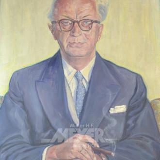 Gemälde ''Vorstand mit Zigarre''