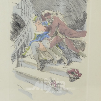 Bild ''Akt auf Treppe''