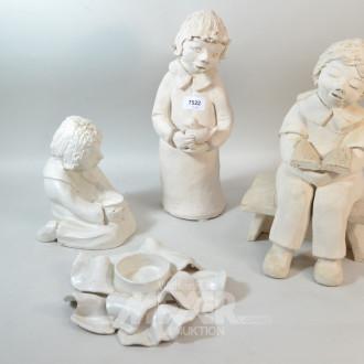 3 Gipsfiguren ''Kinder''