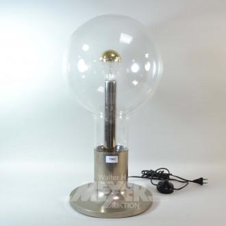 Tischlampe mit Glaskuppelschirm und