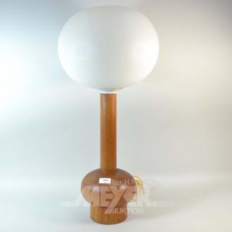 Tischlampe mit Milchglasschirm,