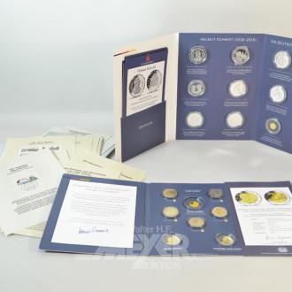 2 Medaillen-Sets, unvollständig