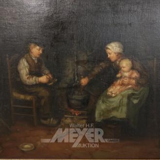 Gemälde ''Bauernpaar mit Kind''
