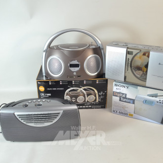 2 Radios und 2 CD-Player