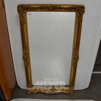Wandspiegel, goldf. geschnitzter Rahmen,