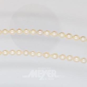 kurze Perlenkette, 585er