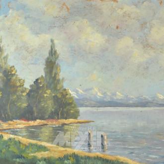 Gemälde ''See vor Gebirge''