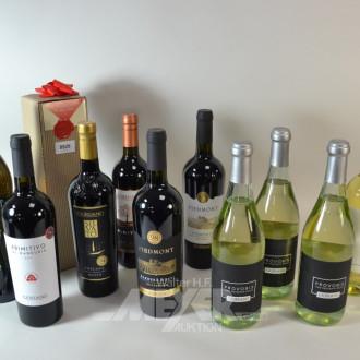 12 Flaschen Rot/Weiß/ und Rosè-Weine