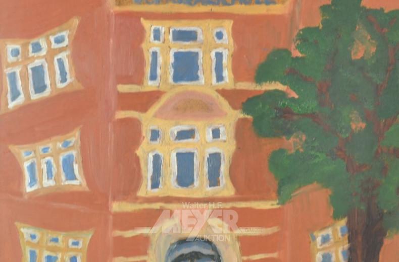2 Gemälde ''Oberrealschule''