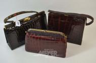 3 Damenhandtaschen, 50er Jahre