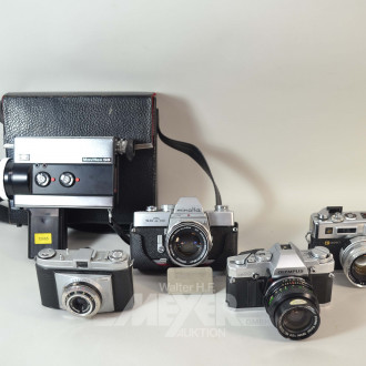umfangr. Sammlung analoge Kameras,