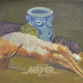 Gemälde ''Stilleben mit Hase''