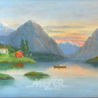 Gemälde ''Fjordlandschaft''