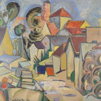 Gemälde ''Südländische Dorfansicht''