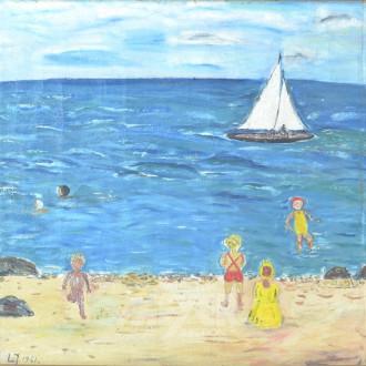 Gemälde ''Kinder am Strand''
