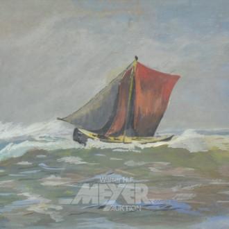 Aquarell ''Segelboot''