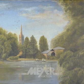 Gemälde ''Segelboote auf See''