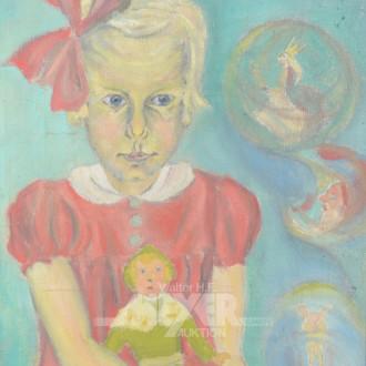 Gemälde ''Mädchen mit Puppe''