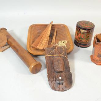 Posten Holzdeko: Schale, Stifthalter,