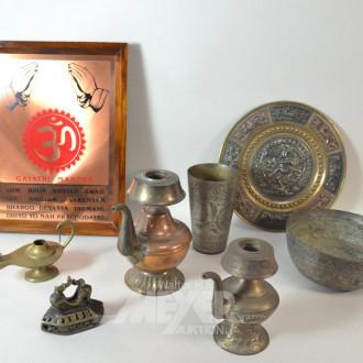 Posten Metalldekoration: Öllampe,