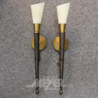 Wandlampenpaar, 'HUFNAGEL', Fackeloptik,