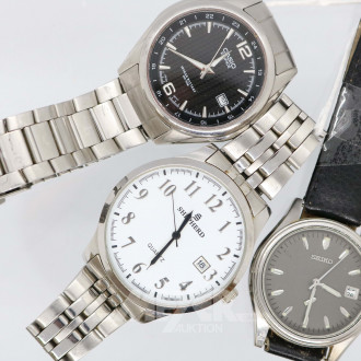 3 versch. Herrenarmbanduhren