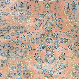 Orient Teppich, beige / orange grundig,