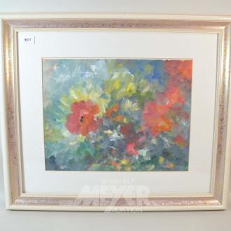 3 Gemälde ''Blumenstillleben''