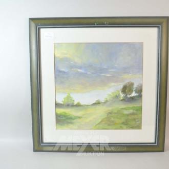 2 Aquarelle ''Landschaft - Wald''