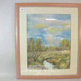 2 Aquarelle ''Landschaften''