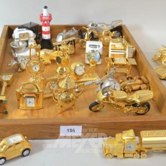 Posten div. Miniatur-Uhren