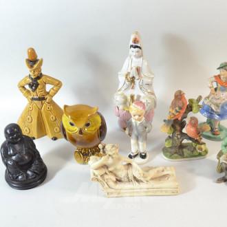 Posten Figuren: Buddha, Handwerker,