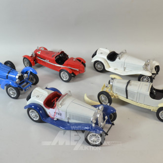 11 versch. Modellautos ''BURAGO''  SCALE 1/18