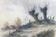 Konvolut von 9 div. Gemälden