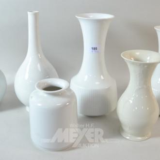 6 Porzellan Vasen ''KPM / Rosenthal /
