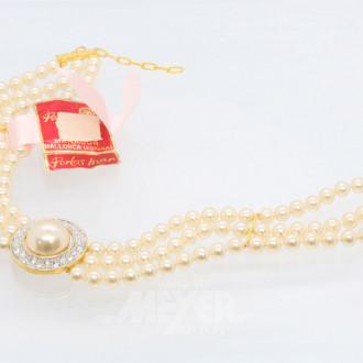 Modeschmuck-Perlarmband,3-strängig
