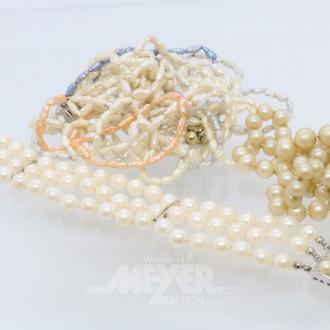 Posten Perlenketten und Armbänder