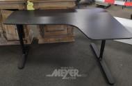 Schreibtisch, Eiche furniert schwarz