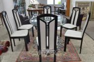 6 Stühle, hochglanz schwarz,
