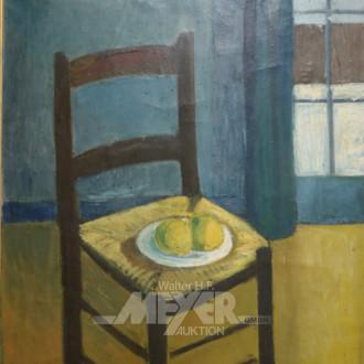 Gemälde ''Stillleben mit STuhl''