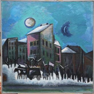 Gemälde ''mod. Stadtansicht''
