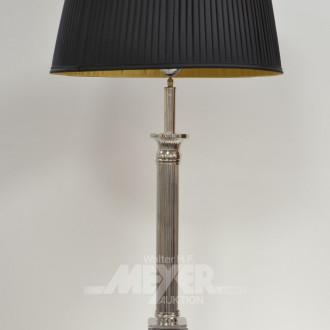 Paar Säulenfuß-Tischlampen, Empirestil,