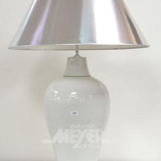 Paar gr. Porzellan-Vasenlampen,